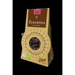 Żurawina z czekoladzie deserowej bezglutenowa BIO 60g DOTI