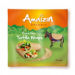 Tortilla wraps (źródło błonnika pokarmowego) BIO 240g AMAIZIN