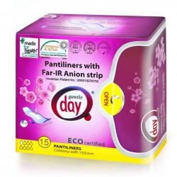 Wkładki higieniczne z paskiem anioniowym 15szt. Gentle Day