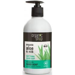 Mydło w płynie do rąk zmiękczajęce barbadoski aloes 500ml Organic Shop