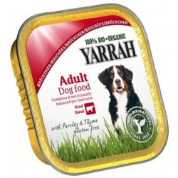 Dla psa kawałki kurczaka z wołowiną bezglutenowe EKO 150g Yarrah