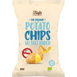 Chipsy ziemniaczane naturalne bez dodatku soli BIO 125g Trafo