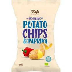 Chipsy ziemniaczane o smaku paprykowym BIO 125g Trafo