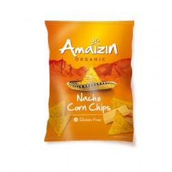 Chipsy Nachos kukurydziane o smaku serowym bezglutenowe BIO 150g AMAIZIN