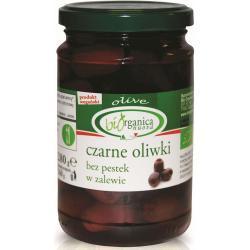 OLIWKI CZARNE BEZ PESTEK W ZALEWIE BIO 280 g (160 g) (SŁOIK) - BIO ORGANICA ITALIA
