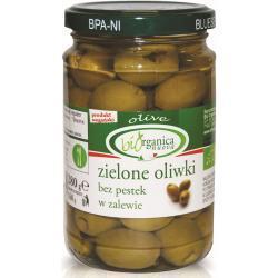 OLIWKI ZIELONE BEZ PESTEK W ZALEWIE BIO 280 g (160 g) (SŁOIK) - BIO ORGANICA ITALIA