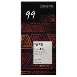 Czekolada gorzka 99% kakao BIO 100g VIVANI