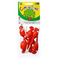 Lizaki okrągłe o smaku truskawkowym BIO 7x10g Candy Tree