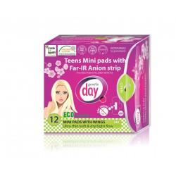 Podpaski higieniczne mini z paskiem anioniowym TEENS 12szt. Gentle Days