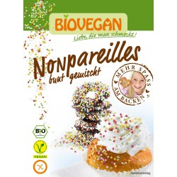 Posypka cukrowa kolorowa perełki bezglutenowa BIO 35g Bio Vegan